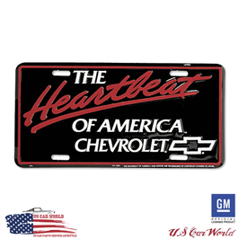 Chevrolet License Plate - HEARTBEAT OF AMERICA - lizensiert