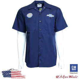 Chevrolet Mechanics Shirt - Chevy Mechanikerhemd - Chevy Camp Shirt- Navy