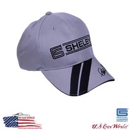 Shelby Basecap - Shelby Logo & Schriftzug - Bestickt - Hellgrau