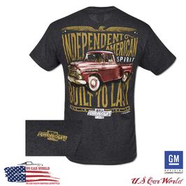 Chevrolet T-Shirt - Chevrolet Built To Last - Dunkelgrau - lizensiert