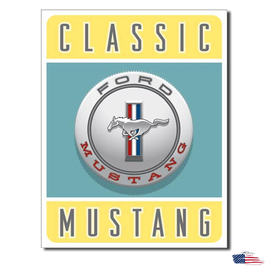 """#1122 - Ford Mustang Blechschild """"Classic Mustang"""""""