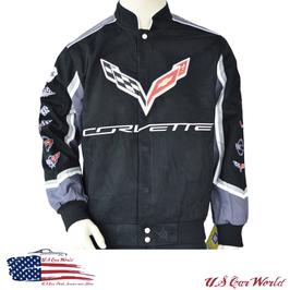 Corvette Jacke - Corvette Logos - C1 bis C7 - Schwarz
