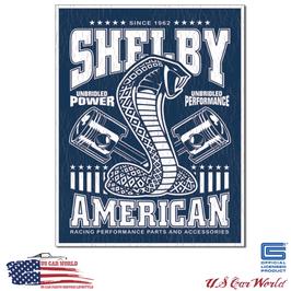 """Blechschild """"Shelby American - Unbridled"""""""