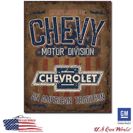 "Chevrolet Blechschild ""American Tradition"""