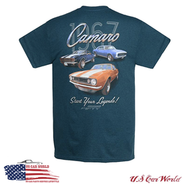 Camaro T-Shirt - Start Your Legends - 1967er Camaro - Petrol