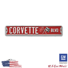 Corvette Blechschild - Corvette BLVD.