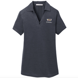 Cadillac Ladies Poloshirt mit Cadillac Classic Logo - Dunkelgrau - lizensiert