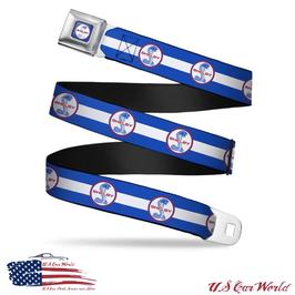 Shelby Cobra Sicherheitsgurt Gürtel mit Shelby Cobra Logo Print - Weiß/Blau