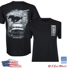 Shelby GT350 T-Shirt - Shelby GT350 Logo - Shelby Racehorse - Schwarz