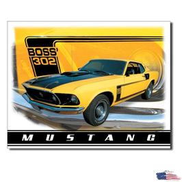 """#1241 - Ford Mustang Blechschild """"Boss 302"""""""