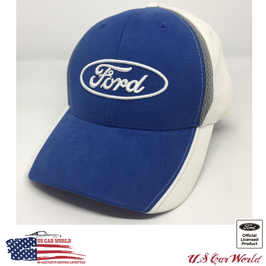 Ford Basecap - Ford Oval Logo - Ford Classic Logo - Blau/Weiß