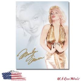 "Blechschild ""Marilyn Monroe - Gold Dress"""
