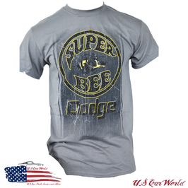 Dodge Super Bee T-Shirt - Dodge Super Bee Print - Dunkelgrau