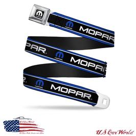 Mopar Sicherheitsgurt Gürtel mit Blue Mopar Print & Stripes