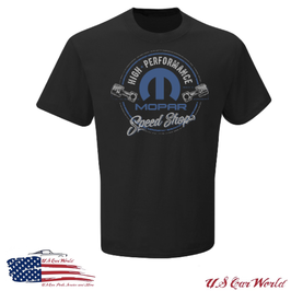 Mopar T-Shirt - Mopar Speed Shop - Piston - since 1937 - Schwarz
