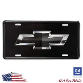 Chevrolet License Plate - CHEVY BLACK BOWTIE - lizensiert