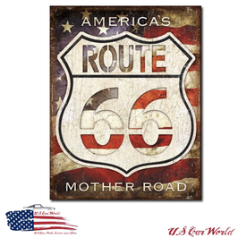 "Blechschild ""Rt. 66 - America's Road"""