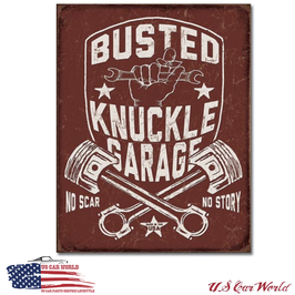 "Blechschild ""Busted Knuckle Shield"""