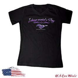Ford Mustang Damen T-Shirt - Wanted A Pony - Giddy Up
