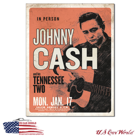 "Blechschild ""Johnny Cash & His Tennessee Two"""