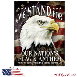 """Blechschild """"We Stand For Our Flag"""""""