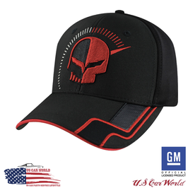 Corvette Racing Basecap mit Corvette Jake Head Logo - Schwarz/Rot