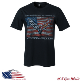 Corvette T-Shirt - Corvette C7 American Sports Car - Schwarz
