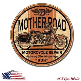 "Blechschild ""Route 66 - Mother Road Repair"""