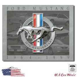 "Ford Mustang Blechschild ""Mustang 35th Anniversary"""