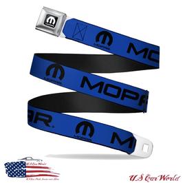 Mopar Sicherheitsgurt Gürtel mit Blue Mopar Print