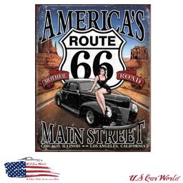"Blechschild ""RT 66 - America's Main Street"""