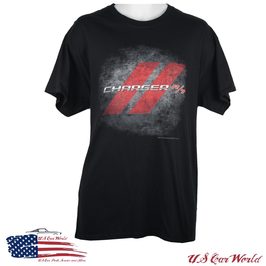 Dodge Charger T-Shirt - Dodge Charger R/T Logo - Schwarz