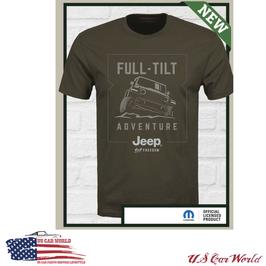 Jeep Wrangler T-Shirt - Jeep Full Tilt Adventure - Braun