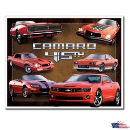"""Chevrolet Blechschild """"Camaro 45th Anniversary"""""""