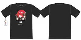 """#KBMMS - Kyle Busch """"18"""" NASCAR T-Shirt - M&M's T-Shirt - Schwarz"""