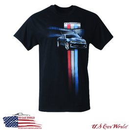 Camaro T-Shirt - Camaro New Generation - Racing Stripes - Schwarz
