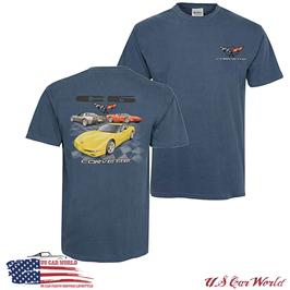 Corvette C5 T-Shirt - Corvette C5 - Hellblau