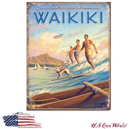 """Blechschild """"Hawaii - Surfside"""""""
