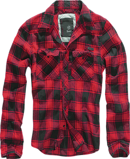 Brandit Check Shirt - Flanellhemd - Red/Black (41)