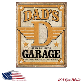"Blechschild ""Dad's Garage"""