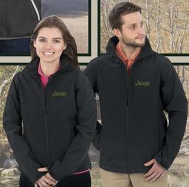 Jeep Softshell Jacke für Damen & Herren mit gesticktem Jeep Logo - Schwarz