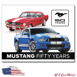 """Ford Mustang Blechschild """"Ford Mustang 50th"""""""