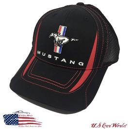 Ford Mustang Tribar Basecap - Mustang Tribar Logo - Schwarz - Mesh