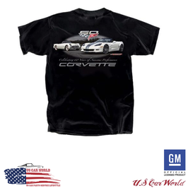 Corvette C6 T-Shirt - Corvette 60 Years - Schwarz