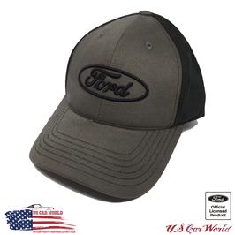 Ford Basecap - Ford Oval Logo - Ford Classic Logo - Schwarz/Grau