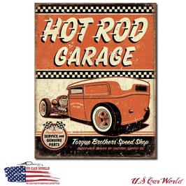 """Blechschild """"Hot Rod Garage - Rat Rod"""""""