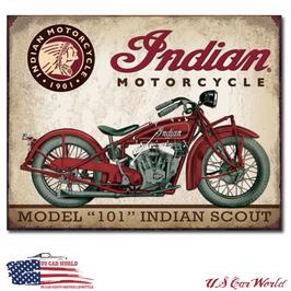 """Blechschild """"Indian Scout"""""""