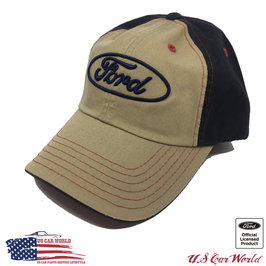 Ford Basecap Logo - Ford Classic - Oval - Beige/Blau