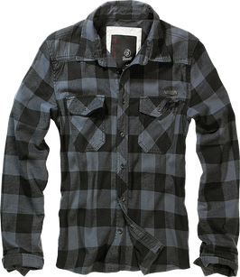 Brandit Check Shirt - Flanellhemd - Black Grey (28)