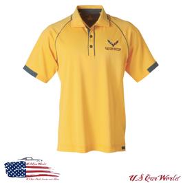 Corvette C7 Racing Poloshirt - Gelb/Grau